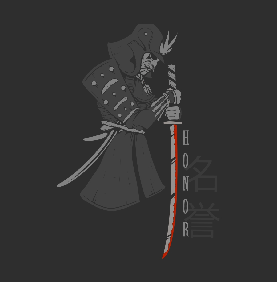 Samurais with Honor (Digital Print)
